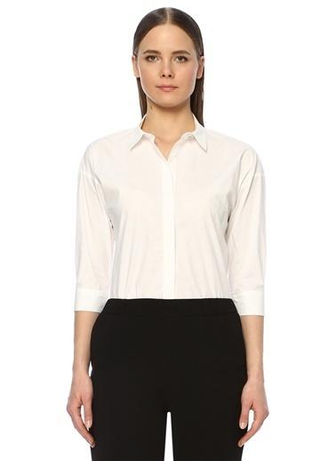 NetWork Kadın 1073336 Regular Fit İngiliz Yaka Gömlek Beyaz